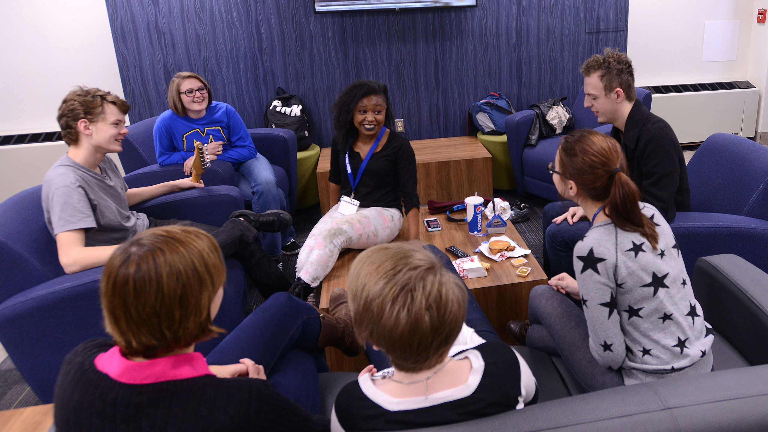 photo: Students in lounge area