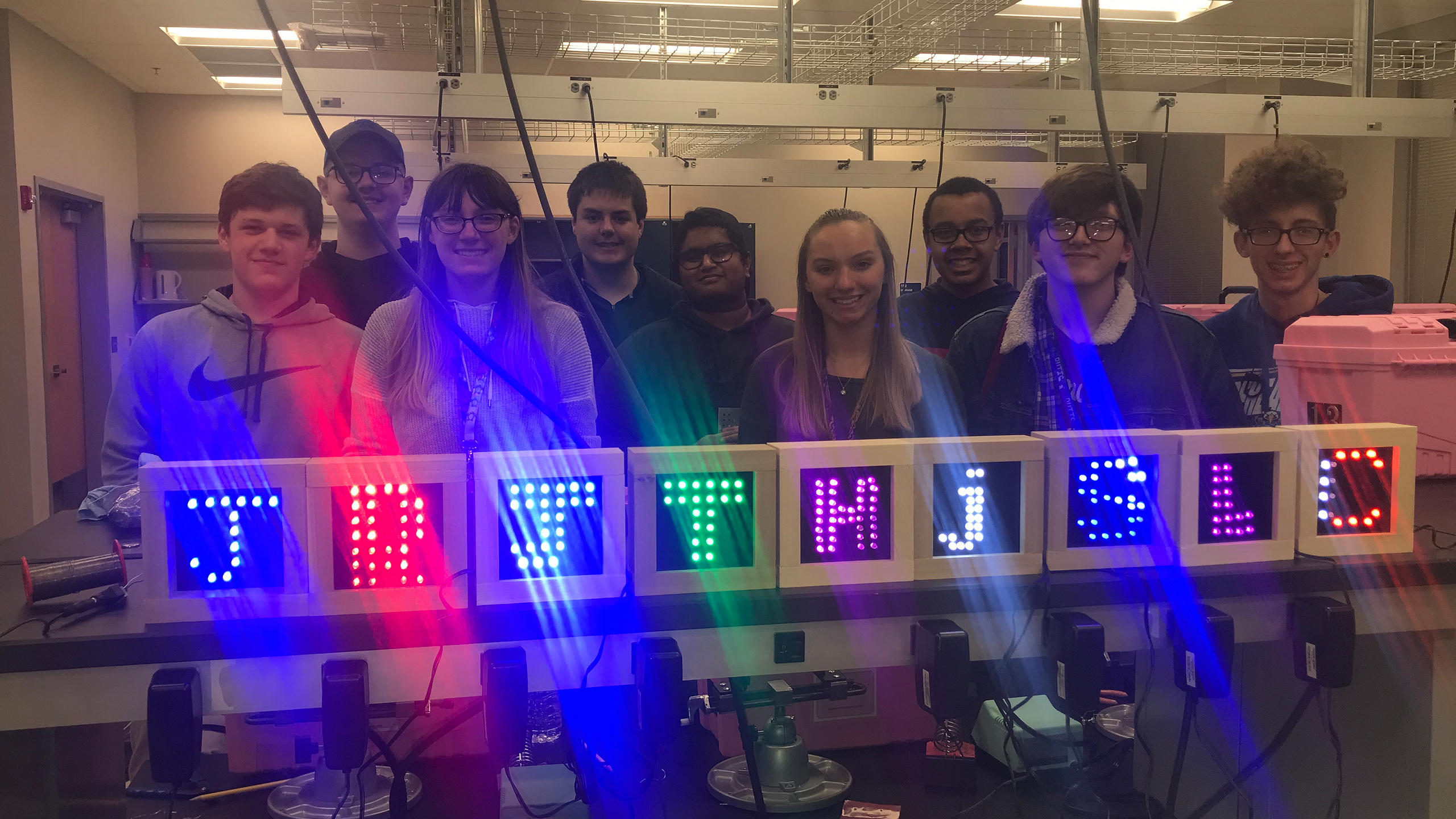 Students create LED signs