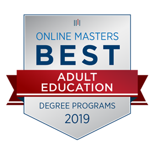 Online Masters Best - Adult Education badge