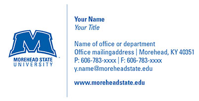Morehead State University Business Card Order Form