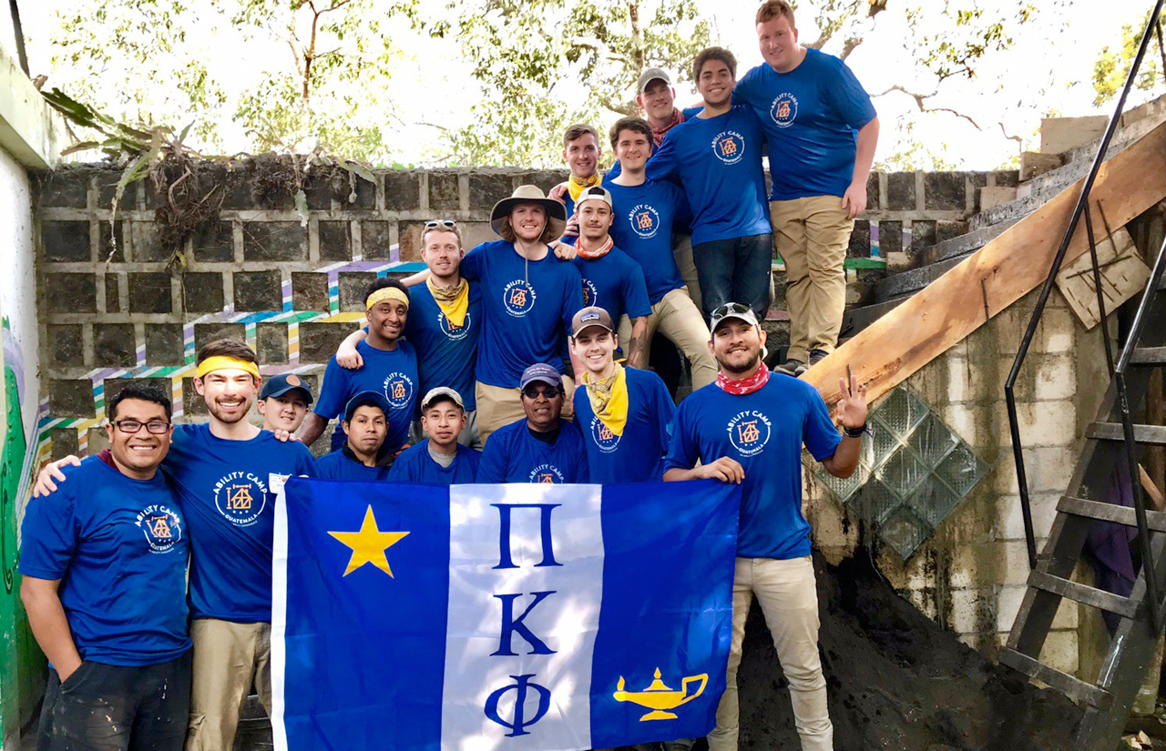 David Clover, a junior music education major from Louisville and a member of Pi Kappa Phi fraternity, traveled to Santiago Atitlán, Guatemala as part of his fraternity's national philanthropy.