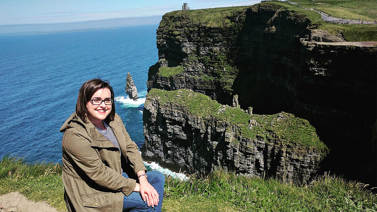 Madison Wallace in Ireland.