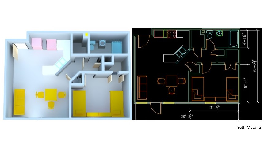 Floor Plan - Double Room