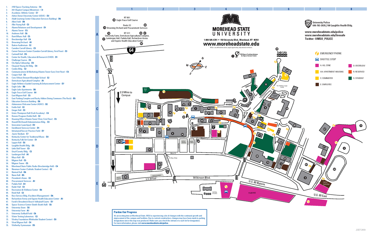 Morehead State University :: Campus Map