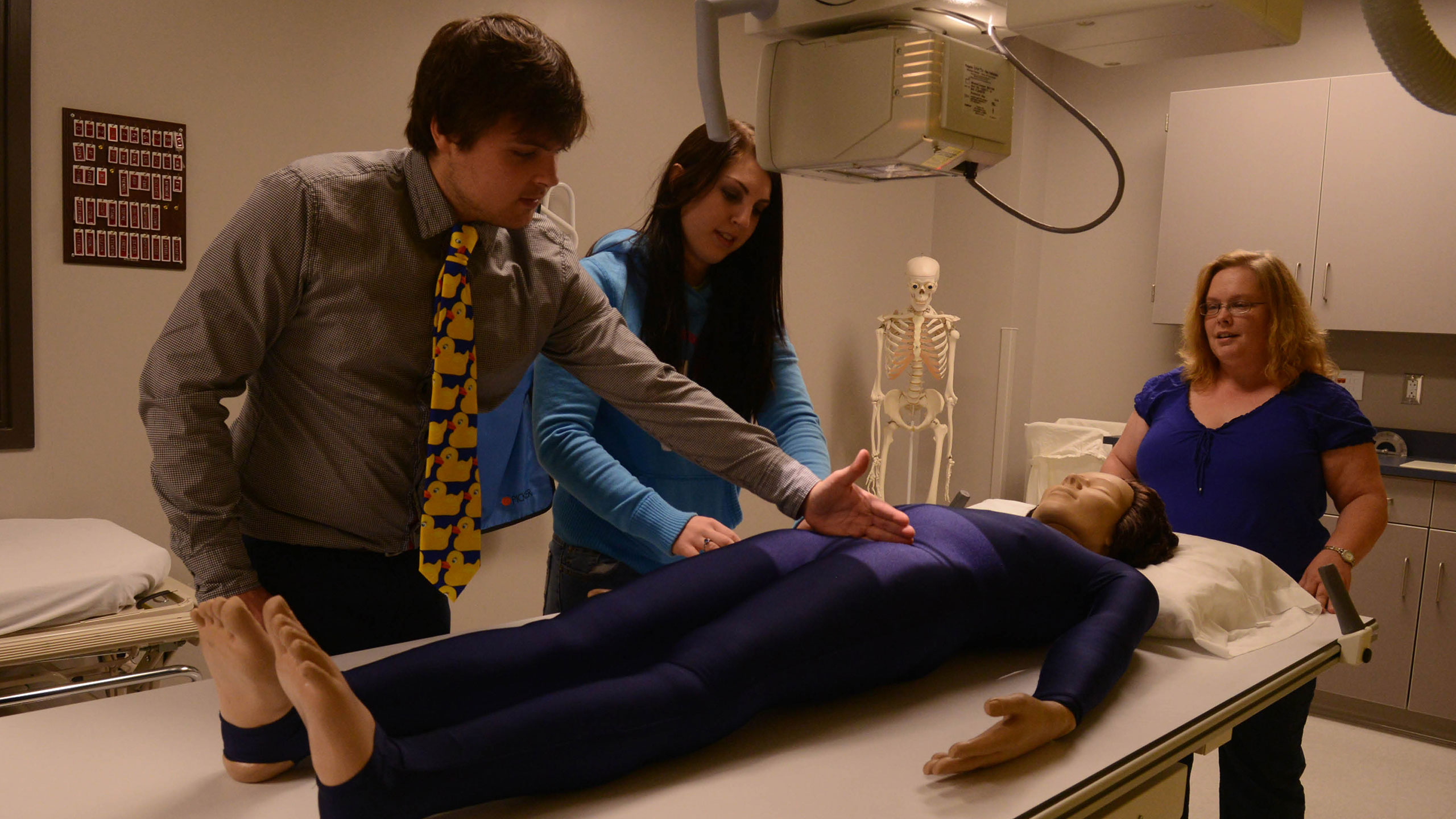 Students in a simulation lab.