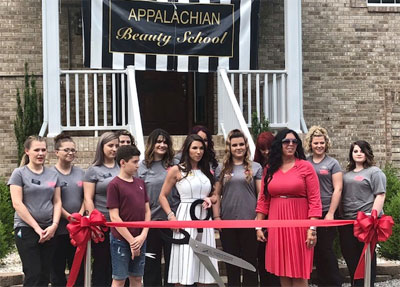 Beauty School ribbon cutting